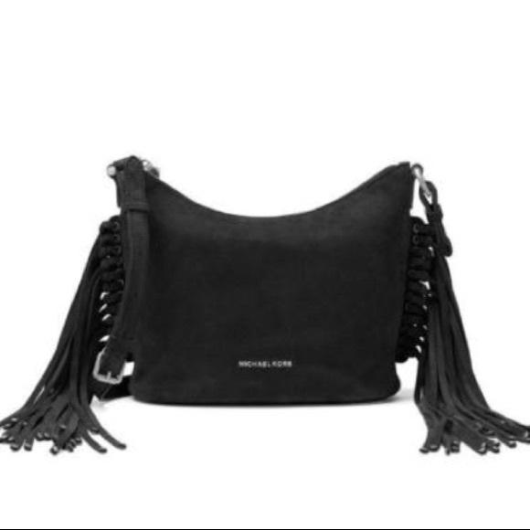 74d20e541ab3eb Michael Kors Bags   Nwt Black Fringe Leather Crossbody   Poshmark